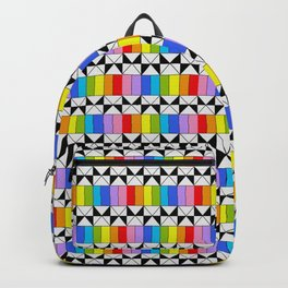 Tribute to mondrian 4- piet,geomtric,geomtrical,abstraction,de  stijl,composition. Backpack