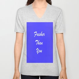 Fresher Thank You : Periwinkle Unisex V-Neck