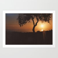 Pafos Sunset Art Print