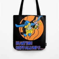 pooh Tote Bags featuring Bat Pooh! by Purple Cactus