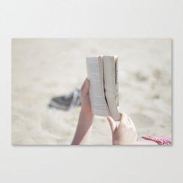 Beach Book Canvas Print