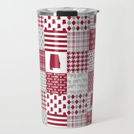Alabama bama crimson tide cheater quilt state college university pattern footabll Travel Mug