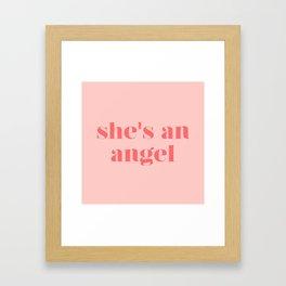 she's an angel Framed Art Print
