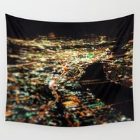 dallas Wall Tapestries featuring DALLAS SKYLINE by Kelsey Barrentine