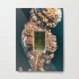 Norway Lofoten Henningsvær Soccer field V3 Metal Print