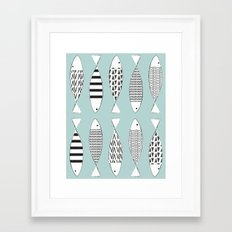 Nordic fish Framed Art Print