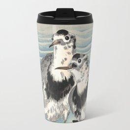 Japanese Woodcut - Coastal Birds Travel Mug