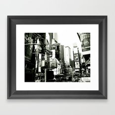 WHITEOUT : Life in the City Framed Art Print