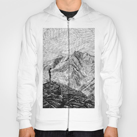 Child on the rock - Black ink Hoody
