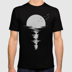 Moon Song Mens Fitted Tee Black SMALL
