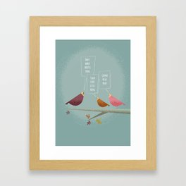 Three Little Birds Framed Art Print
