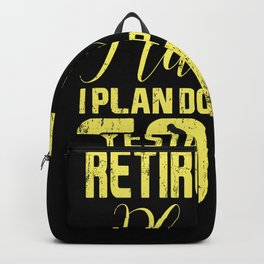 Retirement Retired Golf Grandpa Grandma Backpack