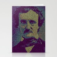 edgar allan poe Stationery Cards featuring Edgar Allan Poe. by Robotic Ewe