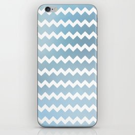 Blue Water Chevron iPhone Skin