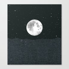 Grey Moonscape Canvas Print