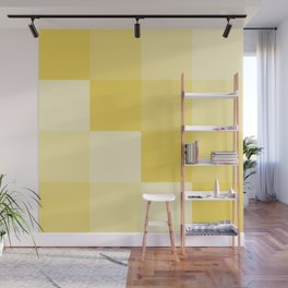 Four Shades of Yellow Square Wall Mural