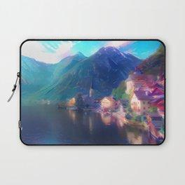 Playfully Bright Hallstatt Village Laptop Sleeve