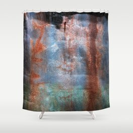 Prison Wall Waterfall Shower Curtain