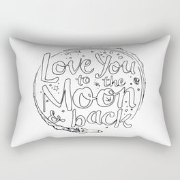Love You to the Moon & Back...Coloring Page Rectangular Pillow