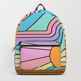 Rainbow No. 1 - The curve flattens and hope shines Backpack
