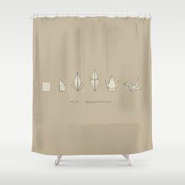 Evolution of Paper Crane Shower Curtain