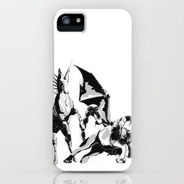 Unicorn VS Manticore iPhone Case