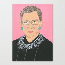 Ruth Bader Ginsberg Canvas Print