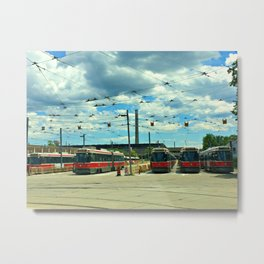 CrissCrossing Metal Print