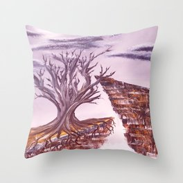 Tree of Solitude Throw Pillow
