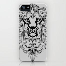Heraldic Lion Head iPhone Case