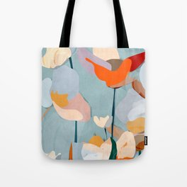 Abstract Art Flowers Tote Bag