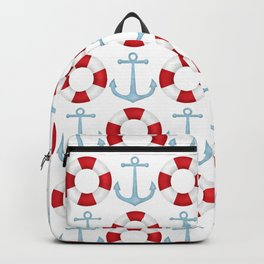Anchors And Buoys Pattern Backpack