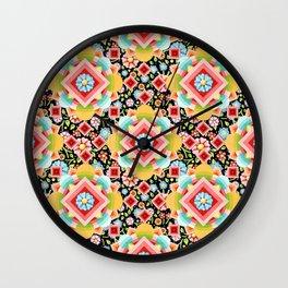 Groovy Cosmic Chintz Wall Clock