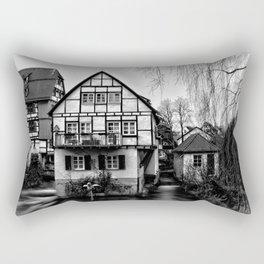 Old timbered house Rectangular Pillow