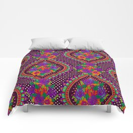 Ivy Purple Comforters