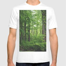 Forest White MEDIUM Mens Fitted Tee
