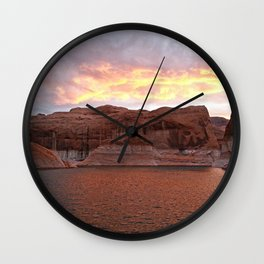 Lake Powell Evenings Wall Clock