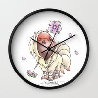projectrocket Wall Clocks featuring I too will Blossom by Randy C