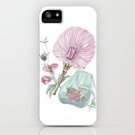 Fan and handbag in the style of Marie Antoinette iPhone Case