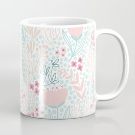 Floral Pattern #1 | Mint and Pink Palette Coffee Mug