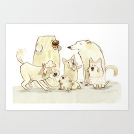 Pack of Pearl Pooches Art Print