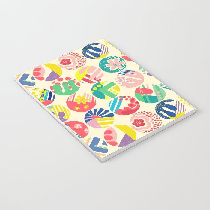 Abstract circle fun pattern Notebook