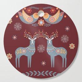 Nordic Winter Red Cutting Board