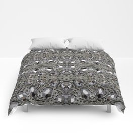 girly chic glitter sparkle rhinestone silver crystal Comforters
