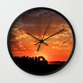 Idaho Sunset Wall Clock
