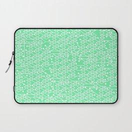 Microchip Pattern (Mint) Laptop Sleeve