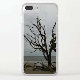 Ghost Tree Beach Clear iPhone Case