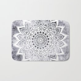 BOHO WHITE NIGHTS MANDALA Bath Mat