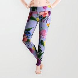 Light Watercolor Floral Leggings
