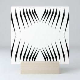 triangles with eyes Mini Art Print